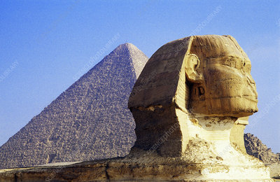 Sphinx and Great Pyramid, Egypt