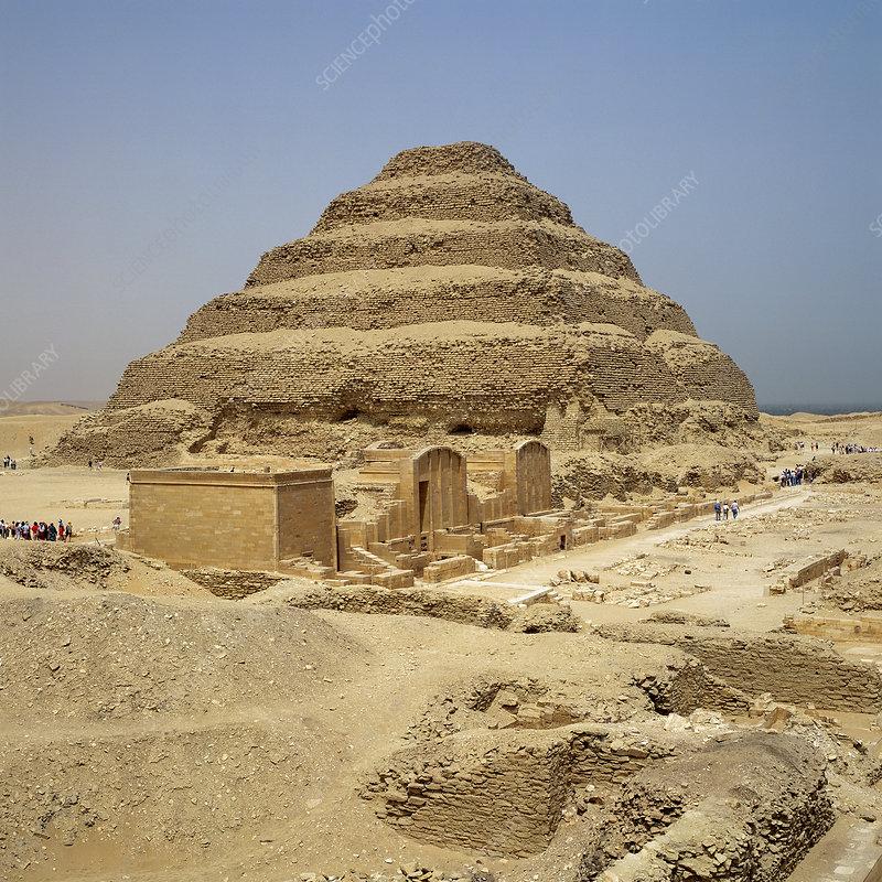 'The Pyramid of Djoser at Saqqara, Egypt'