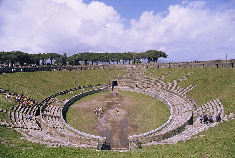 Amphitheatre ruins, Pompeii