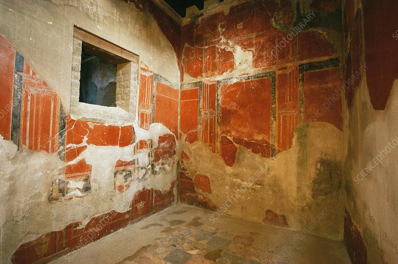 Roman frescoes, Herculaneum