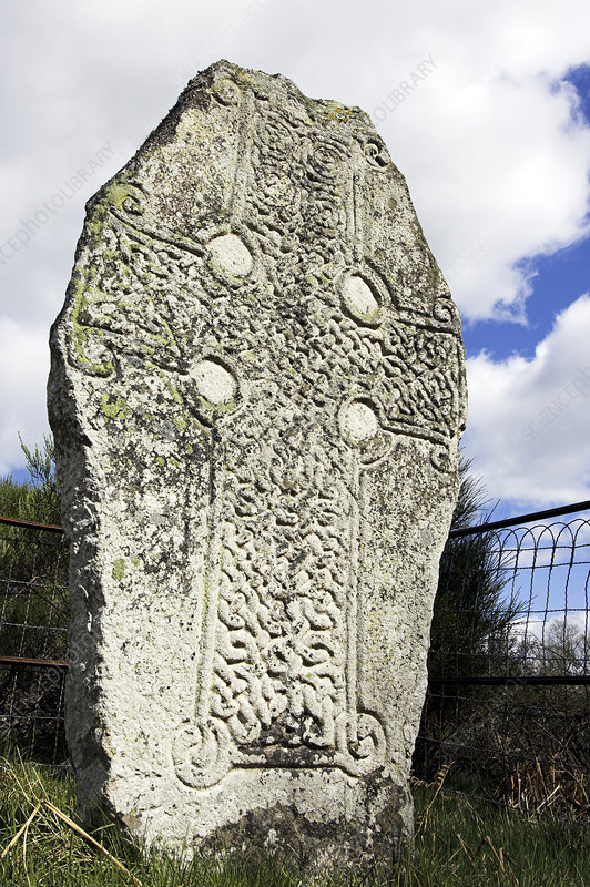 Celtic cross standing stone