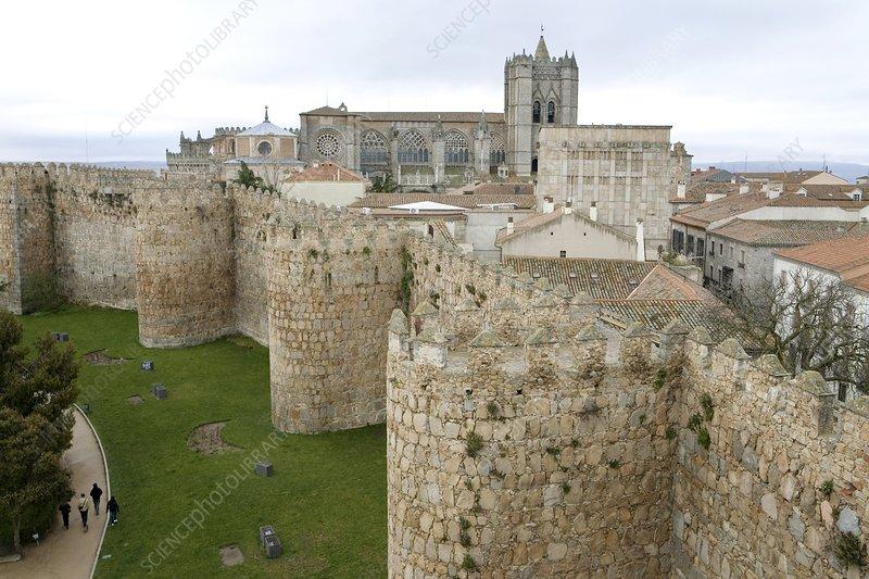 Medieval city walls, Avila, Spain
