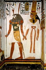 Queen Nefertari and Horus