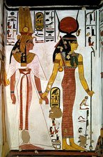 Queen Nefertari and Isis