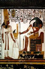 Queen Nefertari and Throth