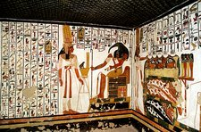 Wall paintings, tomb of Queen Nefertari