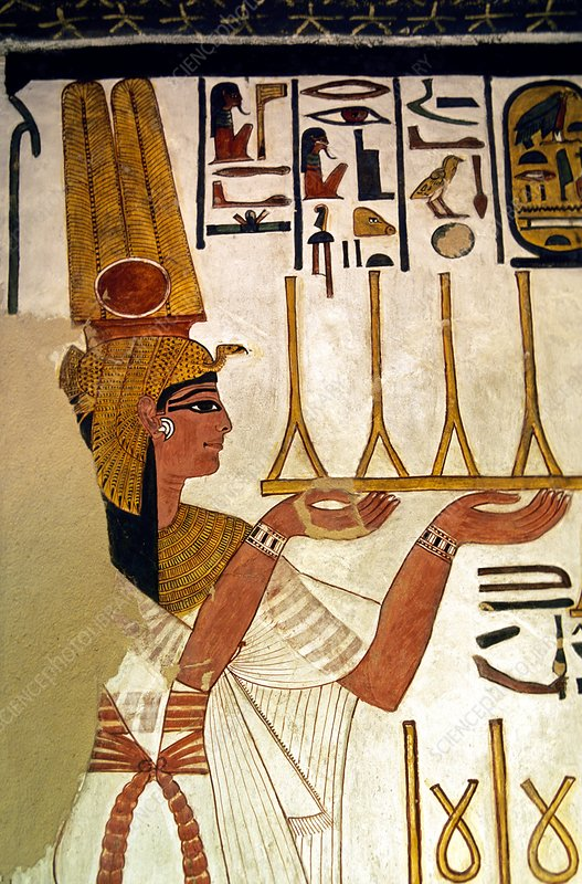 Queen Nefertari offering fabric