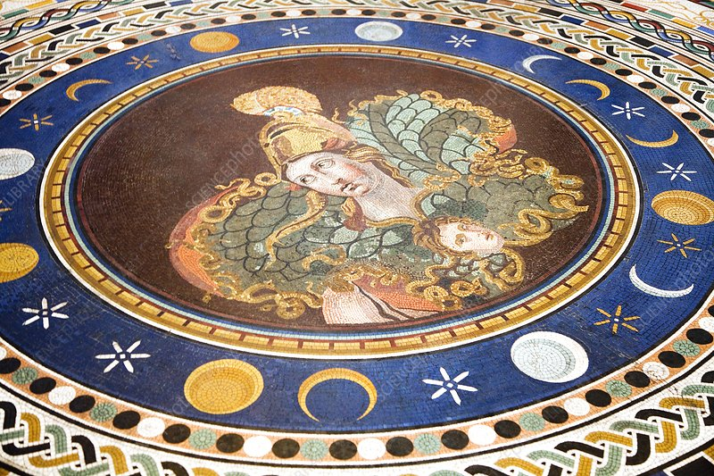 Lunar phases, 3rd century Roman mosaic