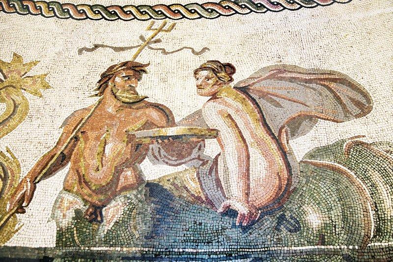Neptune, Roman mosaic