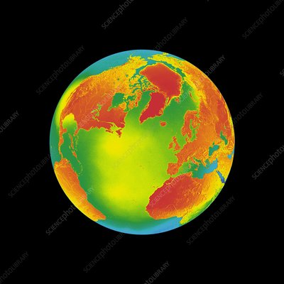 Global warming, conceptual image