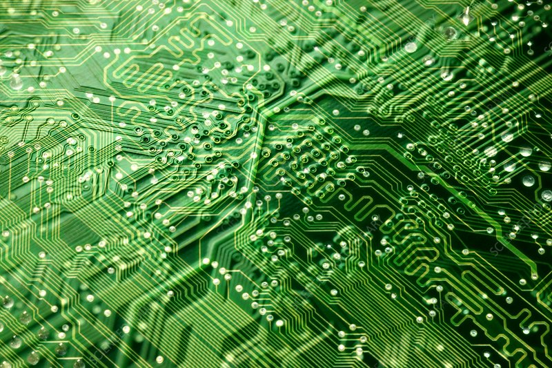 Circuit board, computer artwork - Stock Image F001/0070 - Science ...