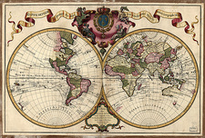 Map of the world, 1720