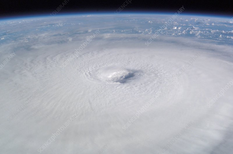 Eye of hurricane Isabel