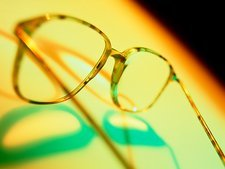 Abstract view of a pair of spectacles