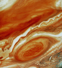 Great red spot on Jupiter