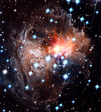 Light echoes around star V838 Monocerotis
