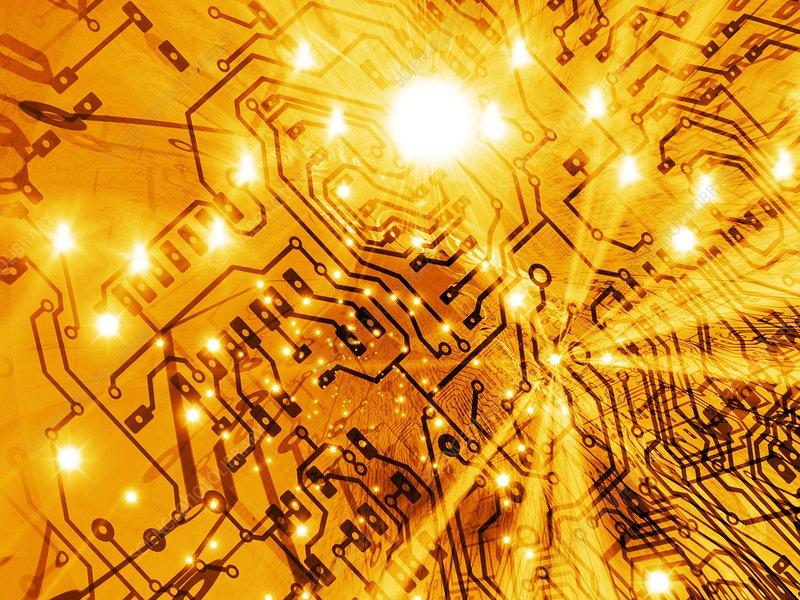 printed circuit board, artwork - Stock Image F001/3190 - Science ...