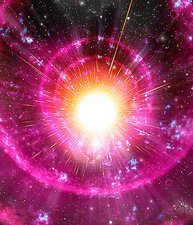 Supernova explosion, artwork