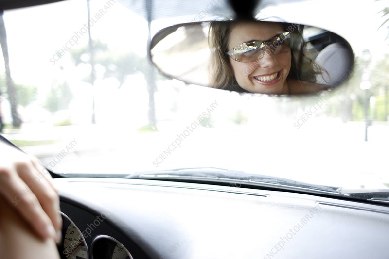 Woman in a car