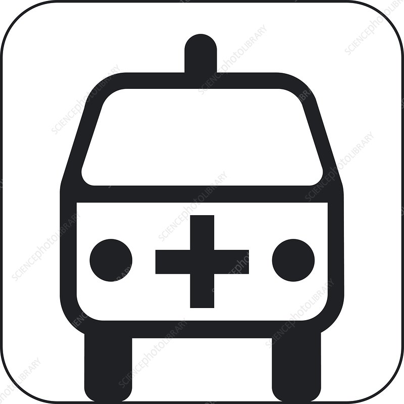 Ambulance symbol, artwork