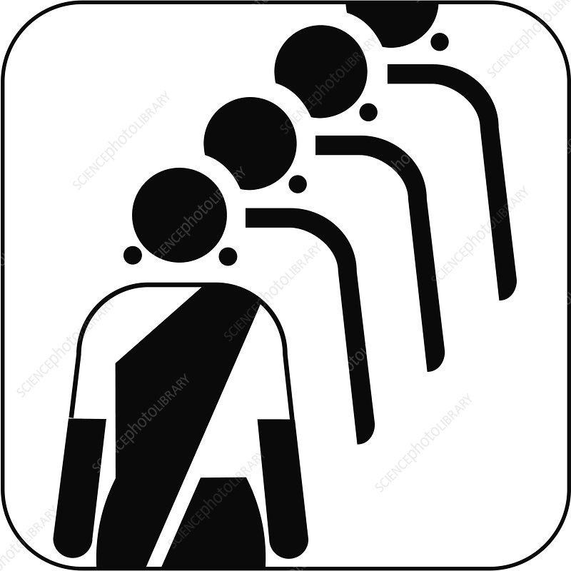 Female queue symbol, artwork