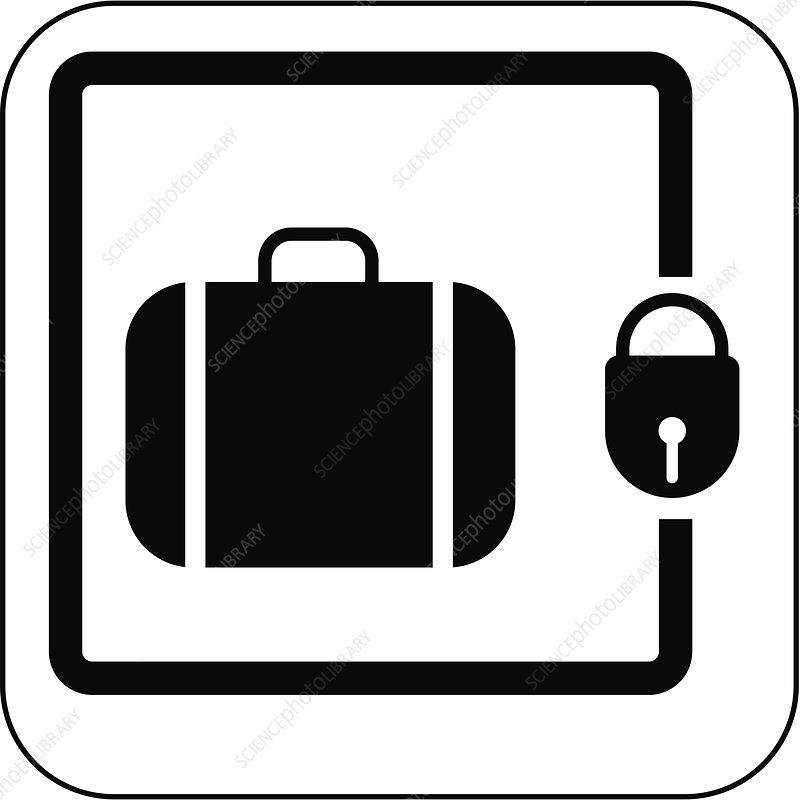 Left luggage symbol, artwork - Stock Image F001/3585 ...