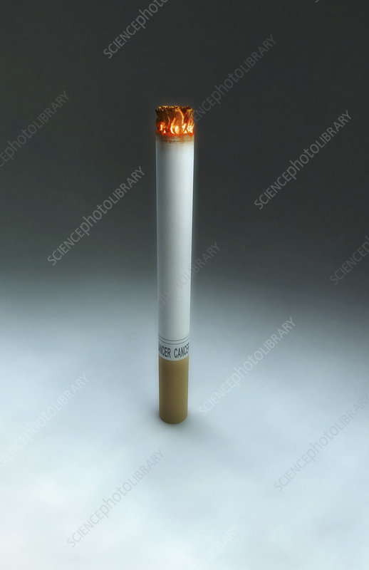 A lighting cigarette
