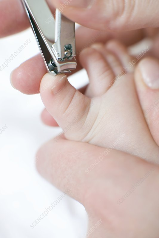 Cutting toenails