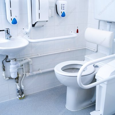 Toilet in a hospital