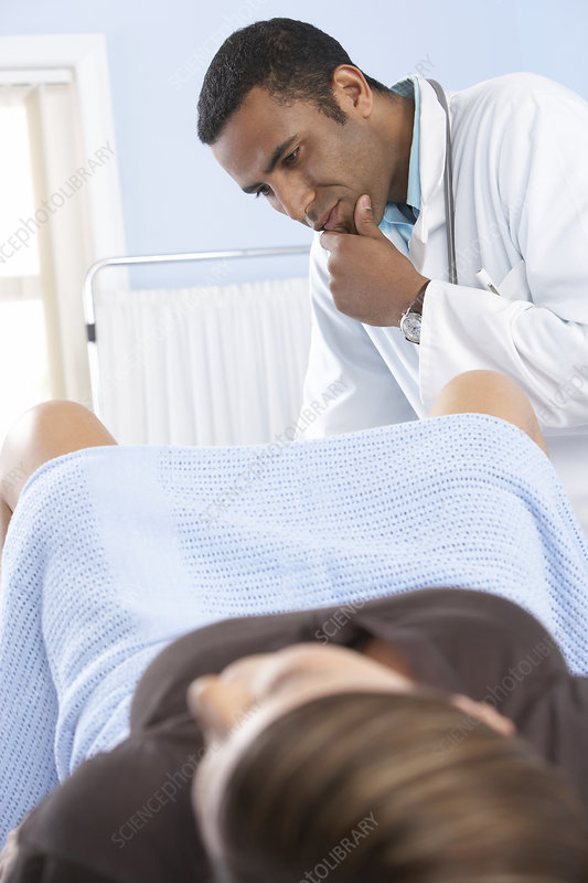 Gynaecologist during an examination