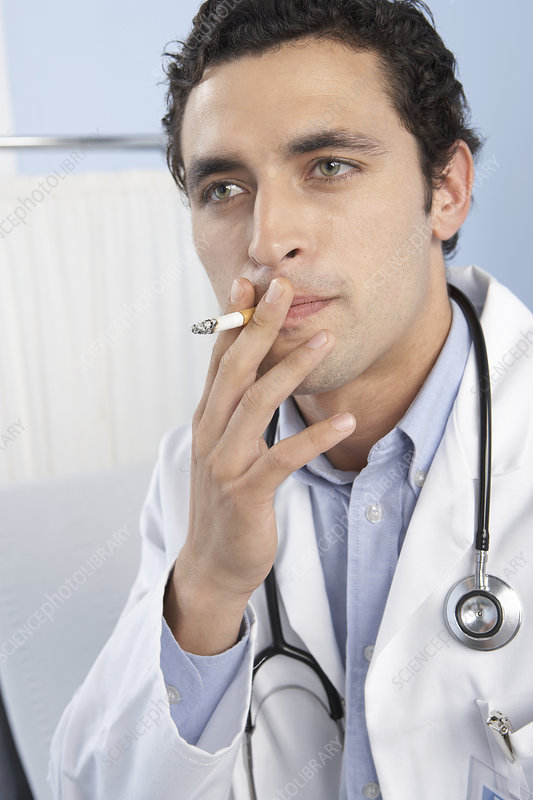 Doctor smoking