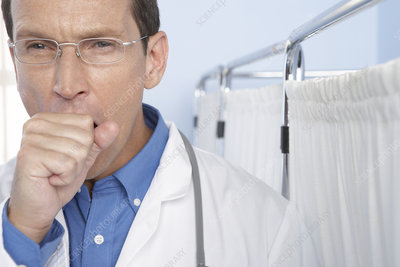 Tired doctor