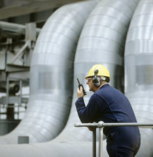 Worker in a power station