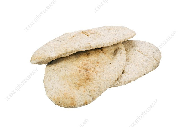 how to cut open pita bread
