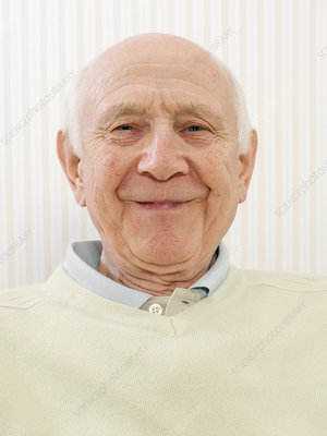 Happy elderly man