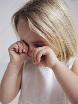 Crying young girl