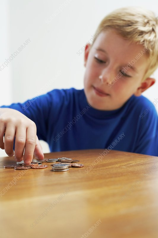 Child with loose change