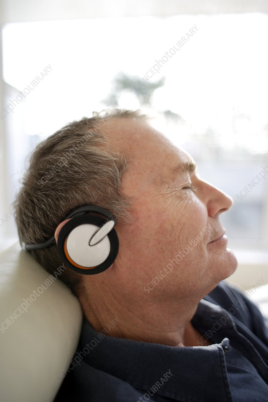 Man using headphones