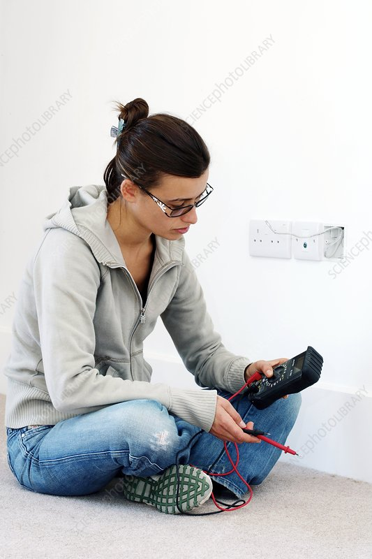 Woman doing DIY