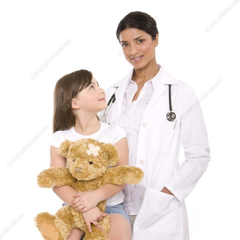 Paediatric doctor and patient