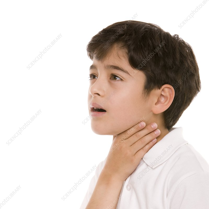 Boy with a sore throat