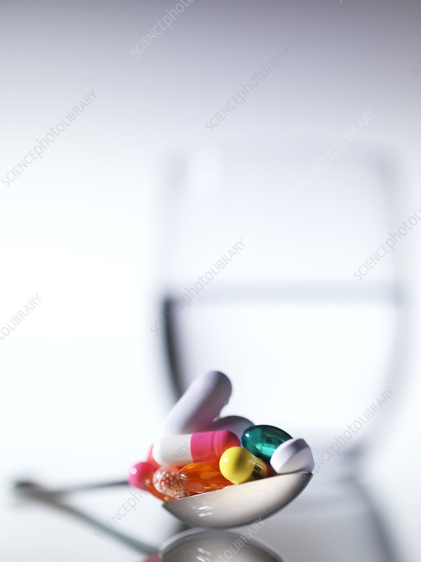 Pills on a spoon