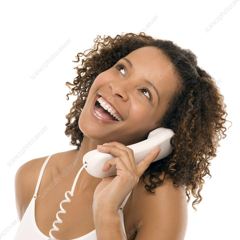 Woman chatting on a phone