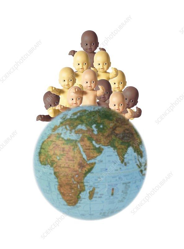 Overpopulation,conceptual image