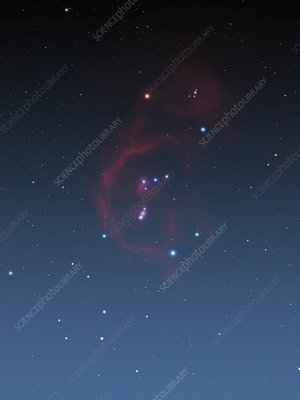 Orion bathed in nebulosity,artwork