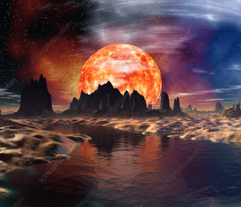 Alien planet, artwork