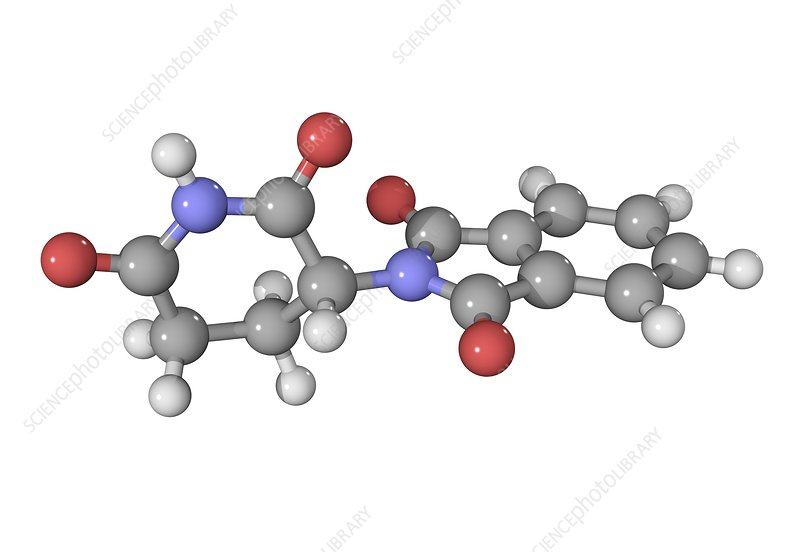 Thalidomide drug molecule
