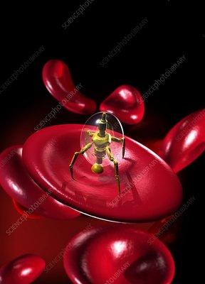 Medical nanorobot, artwork