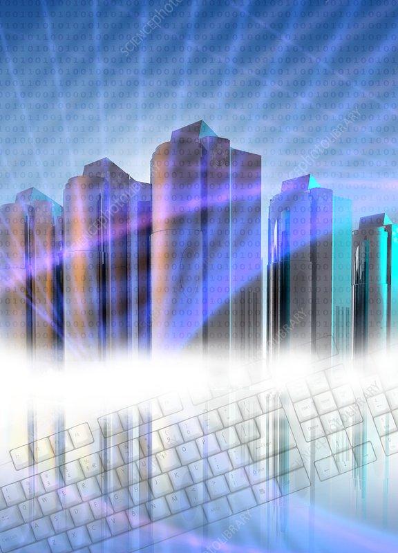 Computer servers, artwork