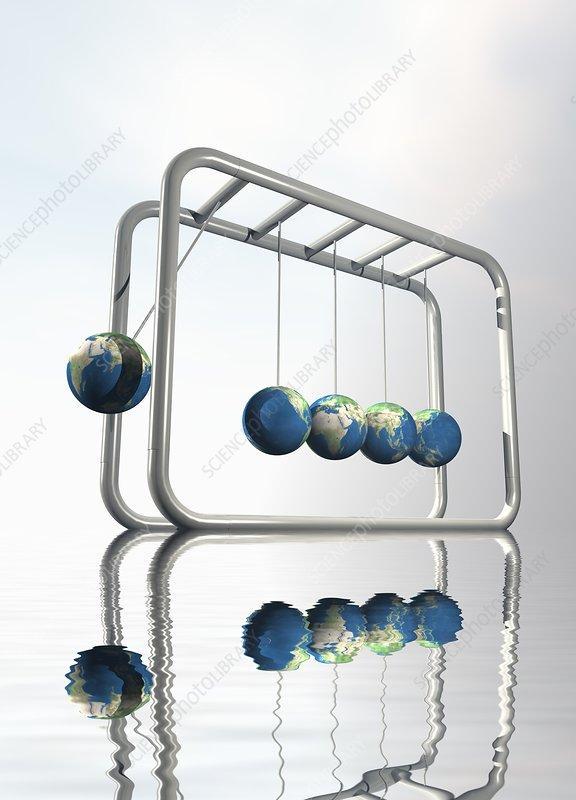 Newtonian Earth, artwork